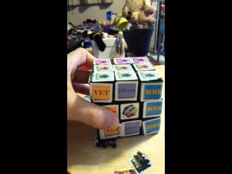 Rubik's Cube 3x3 review and cardboard rubix cube