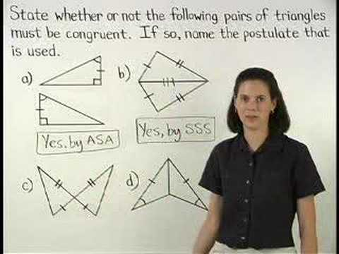 Proving Triangles Are Congruent Mathhelp Com Math Help Youtube
