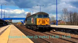 Doncaster Station & Swinton (Sunday) 17/04/16 Classes 43/47/56/57/60/66/67/91/DR