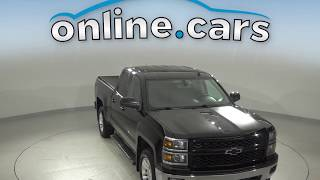 A10716GT Used 2014 Chevrolet Silverado 1500 LT 4WD Black Double Cab Test Drive, Review, For Sale
