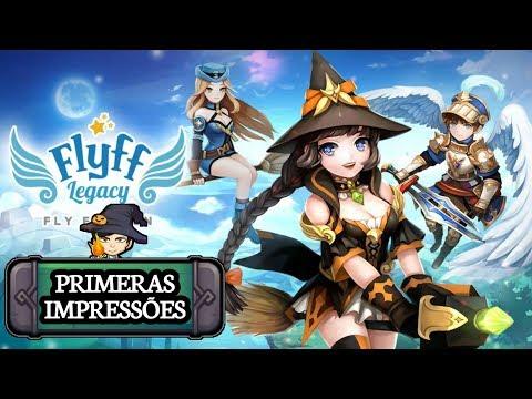 MMORPG leve com servidor BR em português / Flyff Legacy mobile / GAMEPLAY ANDROID BR