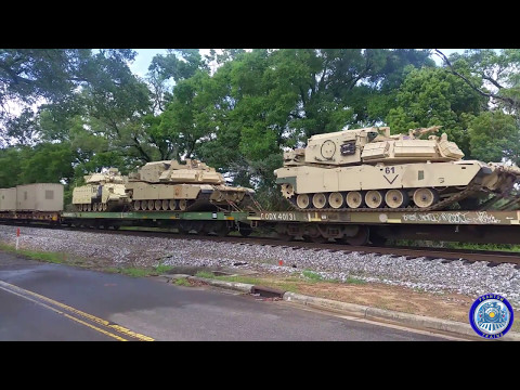 Armored Brigade Combat Team Heading Out By Rail (HD)