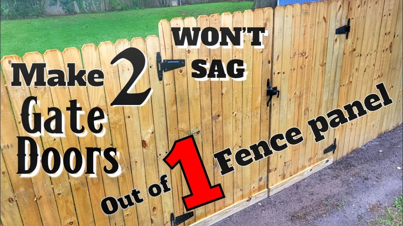 How to make 2 gates out of 1 fence panel wont sag diy woodworking with minimal tools