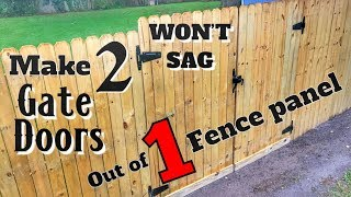 How to Make 2 Gates Out of 1 Fence Panel | Won't Sag | DIY Woodworking with Minimal Tools
