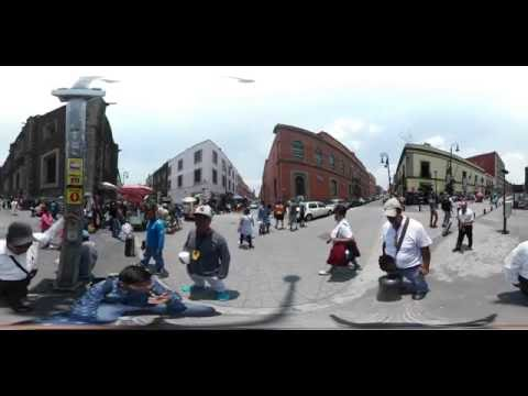 (360-4K) The authentic Mexico City historic Downtown