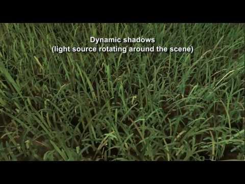 Rendering Grass Terrains in Real Time with Indirect Lighting [HQ]