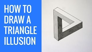 How To Draw An Impossible Triangle Optical Illusion - Impossible Shapes