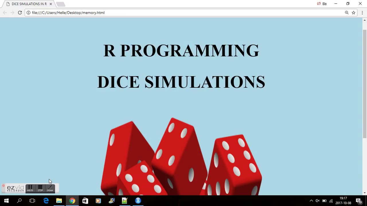 Beau R PROGRAMMING   DICE SIMULATIONS