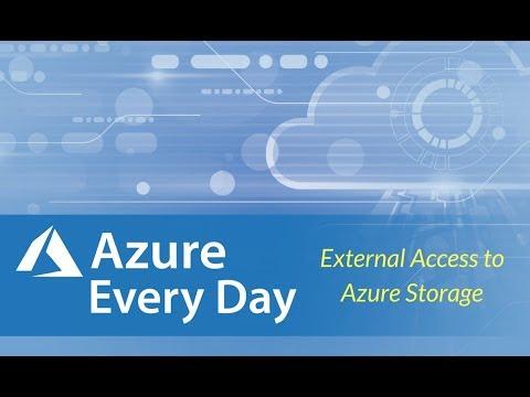 External Access to Azure Storage