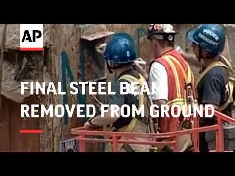 Final steel beam removed from Ground Zero