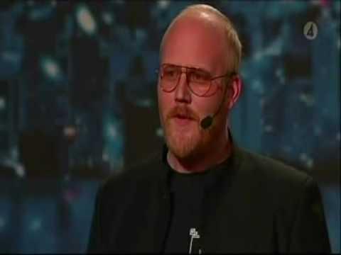 Talang 2009 Sweden got talent Martin Kjellgren Pratar som en 5ring