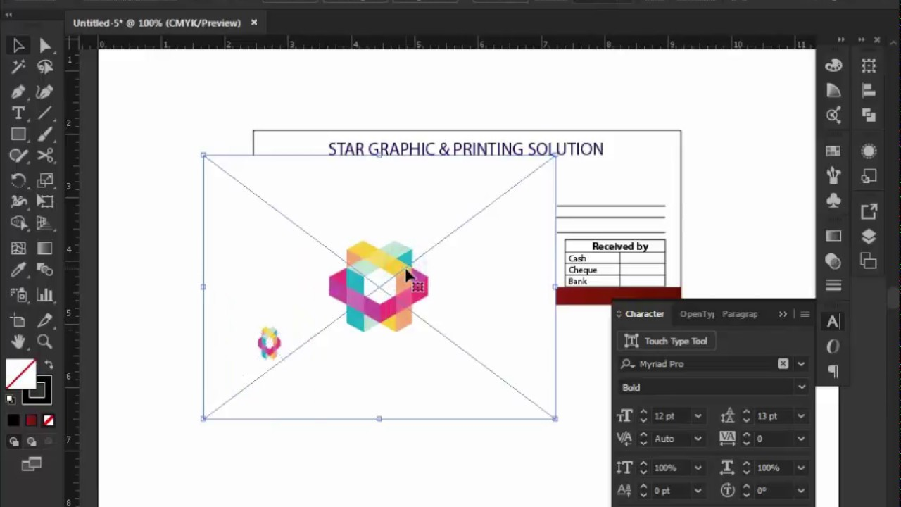 How To Design Money Receipt In Adobe Illustrator Cc. Adobe Illustrator  Tutorial  Money Receipt Design
