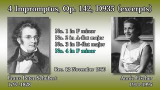 Schubert: 4 Impromptus (D935, excerpts), A. Fischer (1960) シューベルト 4つの即興曲(抜粋) A. フィッシャー thumbnail