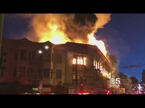 St. Patrick's Day Fire Shuts Down Entire City Block In San Francisco