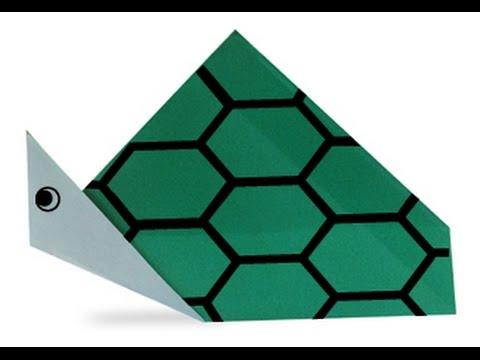 Hướng dẫn cách gấp con rùa bằng giấy - Xếp hình Origami - How to make a Turtle - Tips tutorial