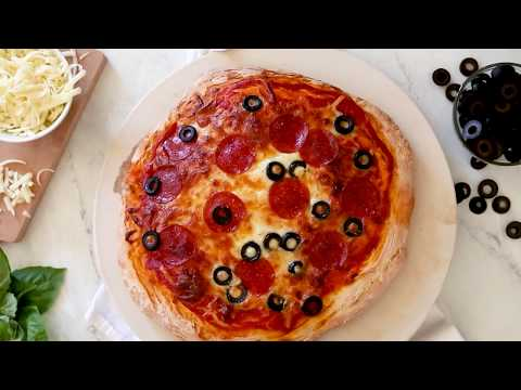 How to Make Pepperoni & Black Olive Pizza