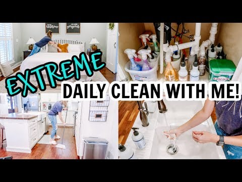 EXTREME DAILY CLEAN WITH ME | CLEANING + ORGANIZING MOTIVATION | Amy Darley