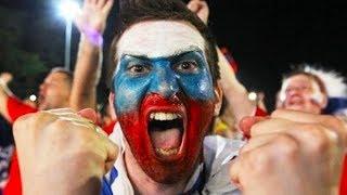 РЕАКЦИЯ ФАНАТОВ НА ПОБЕДУ РОССИИ!!! Как празднуют в России победу Российские футбольные фанаты.