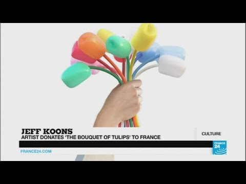 """ENCORE! - Jeff Koons donates """"Bouquet of Tulips"""" to France"""