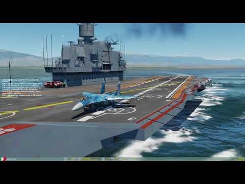 DCS - dank su-33 with vodka on Admiral Kuznetsov
