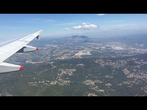 Flying - Landing Into Barcelona-El Prat Airport (Catalonia, Spain) on British Airways