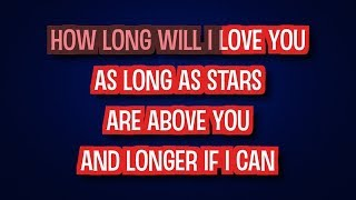 How Long Will I Love You - Ellie Goulding | Karaoke LYRICS