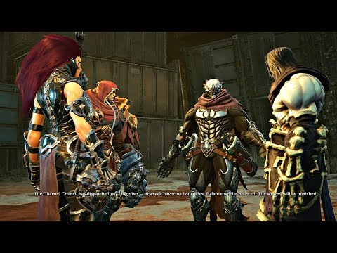 Darksiders 3 - All 4 Horsemen Meeting Cutscene (Darksiders 2018) PS4 Pro