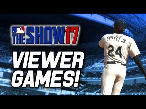 SPONSOR GIVEAWAY! VIEWER GAMES! | MLB The Show 17 Diamond Dynasty