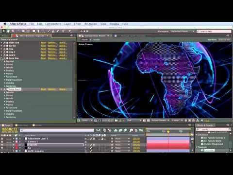Tutorial 1: Create Trapcode Planet from scratch step-by-step