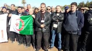 العشرات من اعوان الامن الداخلي بشركة سونطراك بحاسي الرمل في اضراب مفتوح عن الطعام. حكيم ب
