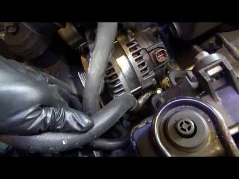 Alternator Replace & Verify: Acura TSX