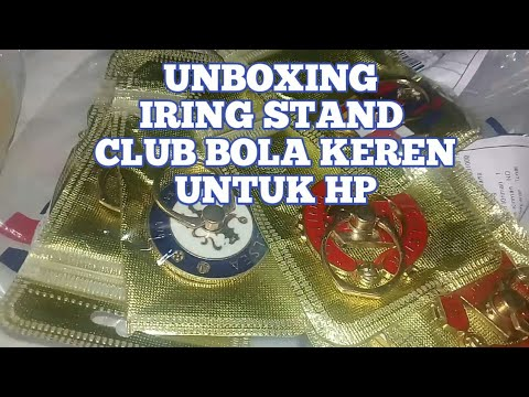 Unboxing Iring Stand Club Bola Keren
