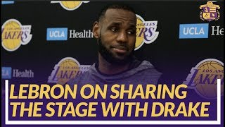 Lakers Nation Interview: LeBron on Matchup With Blazers & Sharing Stage With Drake at Staples