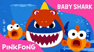 Baby Shark Wearing a Dinosaur Costume! | Animal Songs | PINKFONG Songs for Children thumbnail