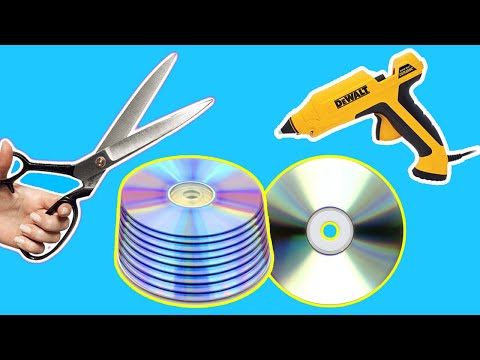 Best Out of Waste - 2 GENIUS CD DVD Craft Ideas   DIY Old CD/DVD Craft Ideas.