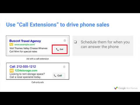 TUTORIAL ADWORDS : Use Mobile Friendly Ad Extensions   Google Best Practices