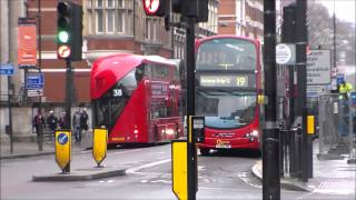 Buses in New Oxford Street 07/02/2015