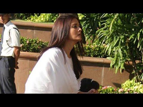 Emotional Aishwarya Rai Bachchan at Father's Prayer Meet   Unseen Video