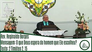 O que Deus espera do homem que Ele escolheu?   Rev. Pinho Borges   IPBV