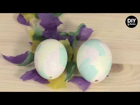 Panduro DIY – Easter egg Coloring with Tissue Paper
