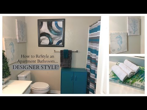 NEW! Decorating Dilemma:  How to ReStyle an Apartment Bathroom