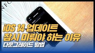 아이폰 iOS 14 업데이트 미루고, 다운그레이드 방법…
