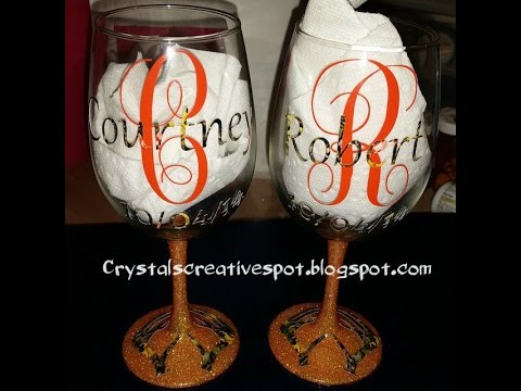79c2e7b13a7 start to finish personalized wine glasses - YouTube