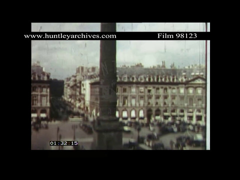 Paris in colour in the 1930's.  Archive film 98123