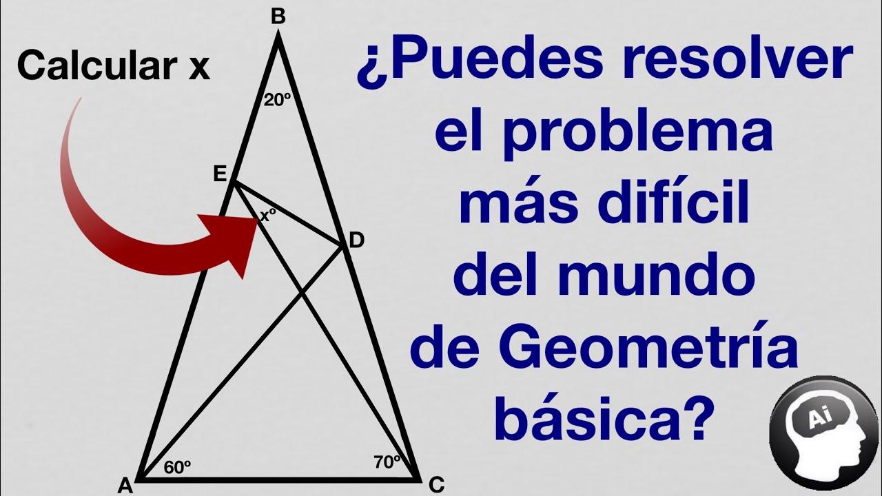 Puedes Resolver El Problema Mas Dificil Del Mundo De Geometria Basica Youtube