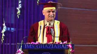Dr. R.K. Khandal (Vice Chancellor UPTU Lucknow) @ IMS G Part 1