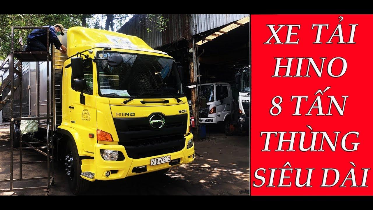 Xe Tải Hino 8 Tấn| Hino 8T FG Thùng Siêu Dài 8m8| Bàn giao xe cho khách hàng tại TP Hồ Chí Minh - YouTube