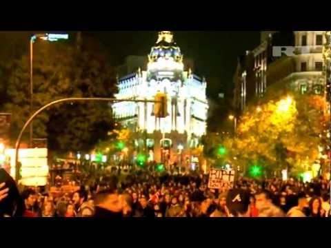 "Riot POLICE CLASHED with PROTESTERS in Madrid, SPAIN ""Anti-Austerity PROTESTS turn VIOLENT"""