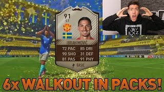 FIFA 17: 6x WALKOUT in a PACK OPENING !! 🔥😱- Wakez