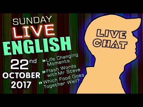 LIVE English Lesson - 22nd OCT 2017 - with Mr Duncan in England - chat - grammar - new words